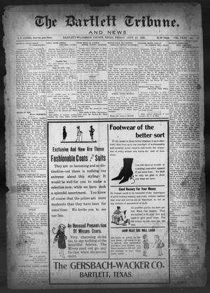 Primary view of object titled 'The Bartlett Tribune and News (Bartlett, Tex.), Vol. 35, No. 12, Ed. 1, Friday, September 10, 1920'.