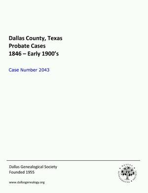 Primary view of Dallas County Probate Case 2043: Hammond, Cora et al (Minors)