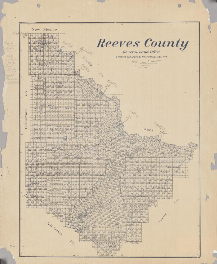 Reeves County Texas Map