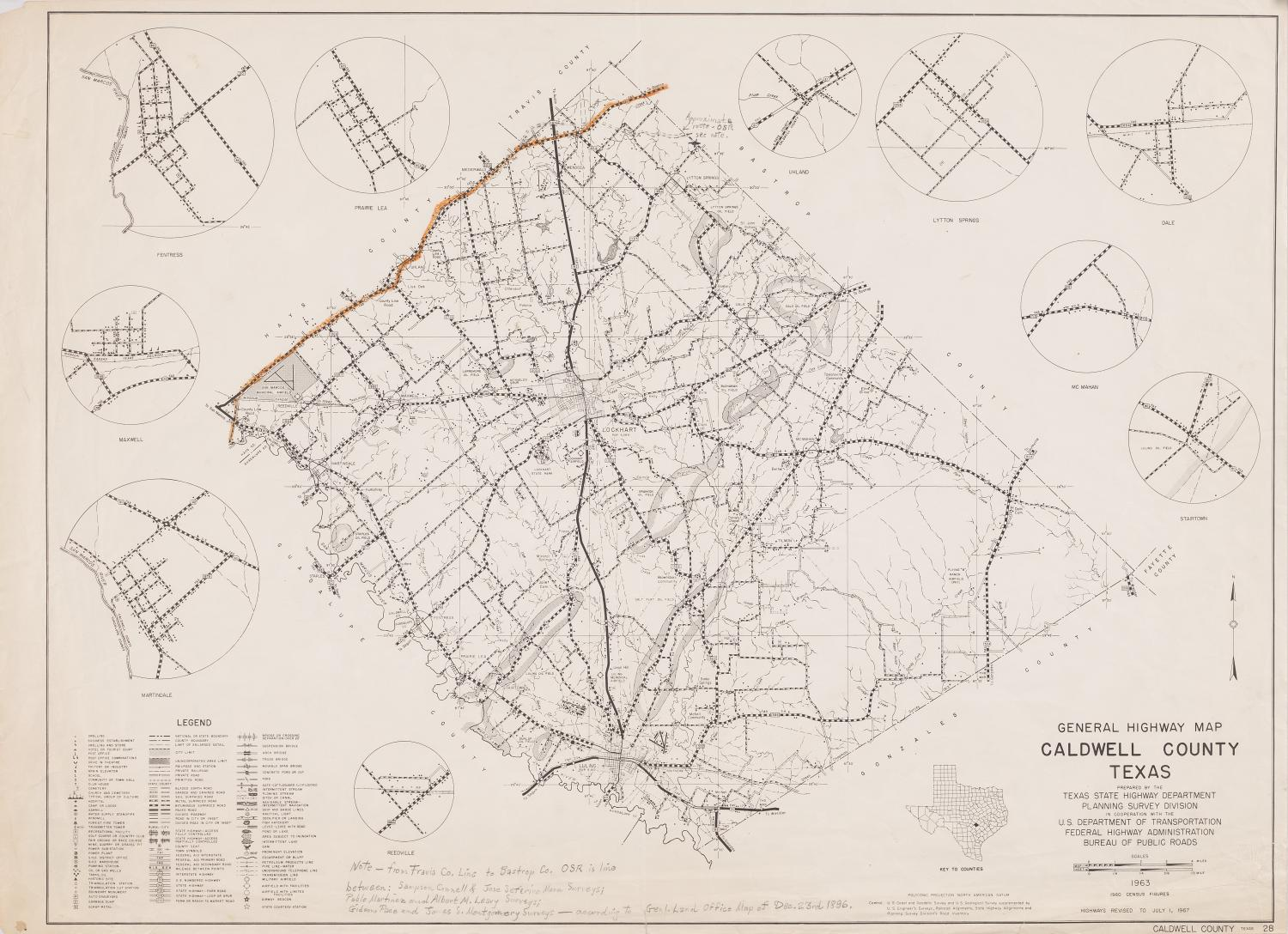 General Highway Map Caldwell County, Texas - The Portal to Texas History