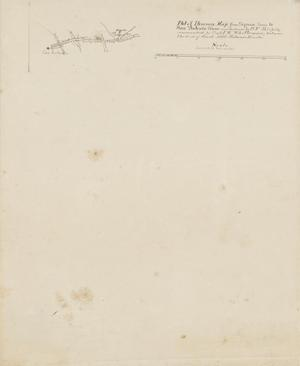 Primary view of Plot of Itinerary Map from Seguin, Texas to San Antonio, Texas