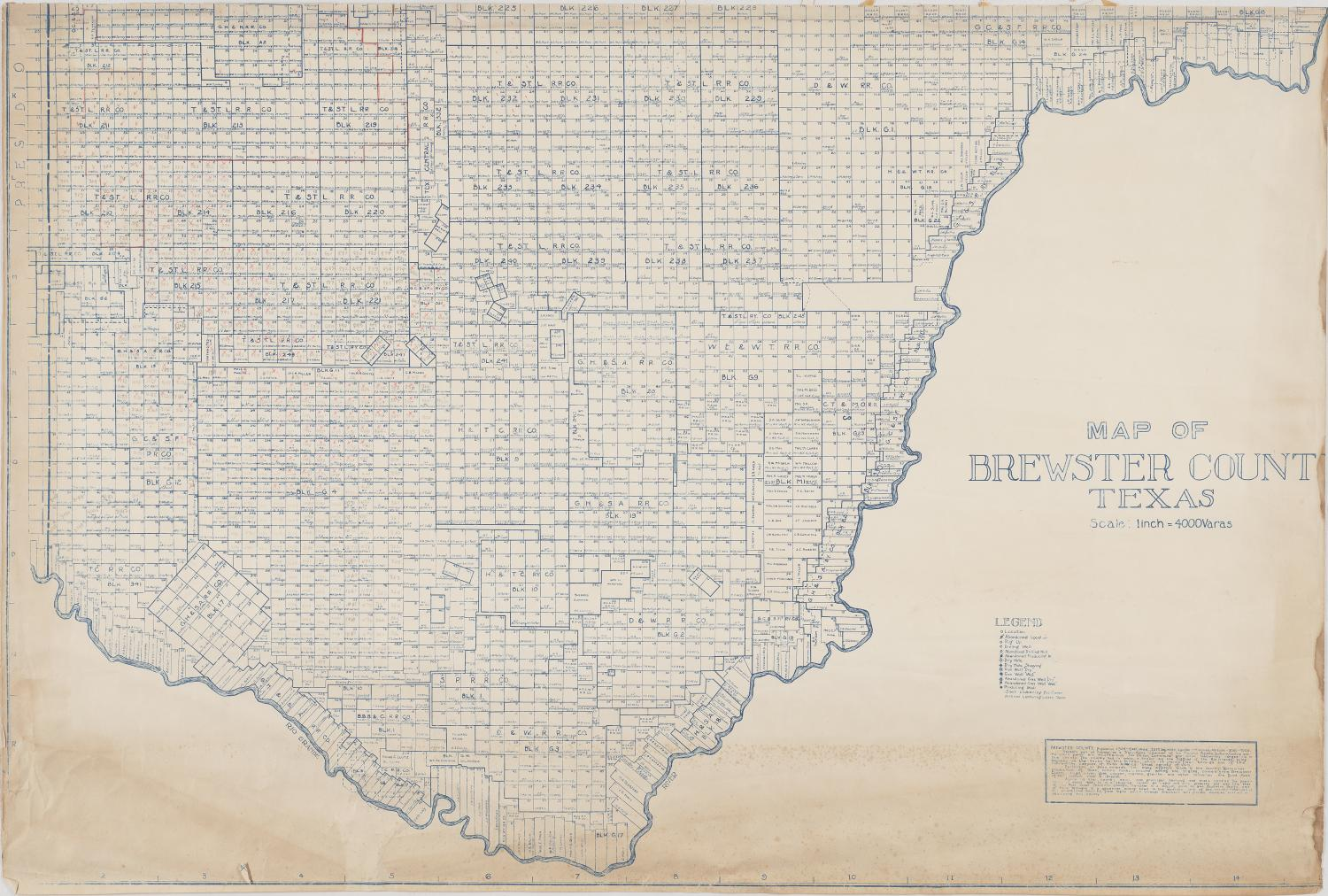 Map of Brewster County Texas
