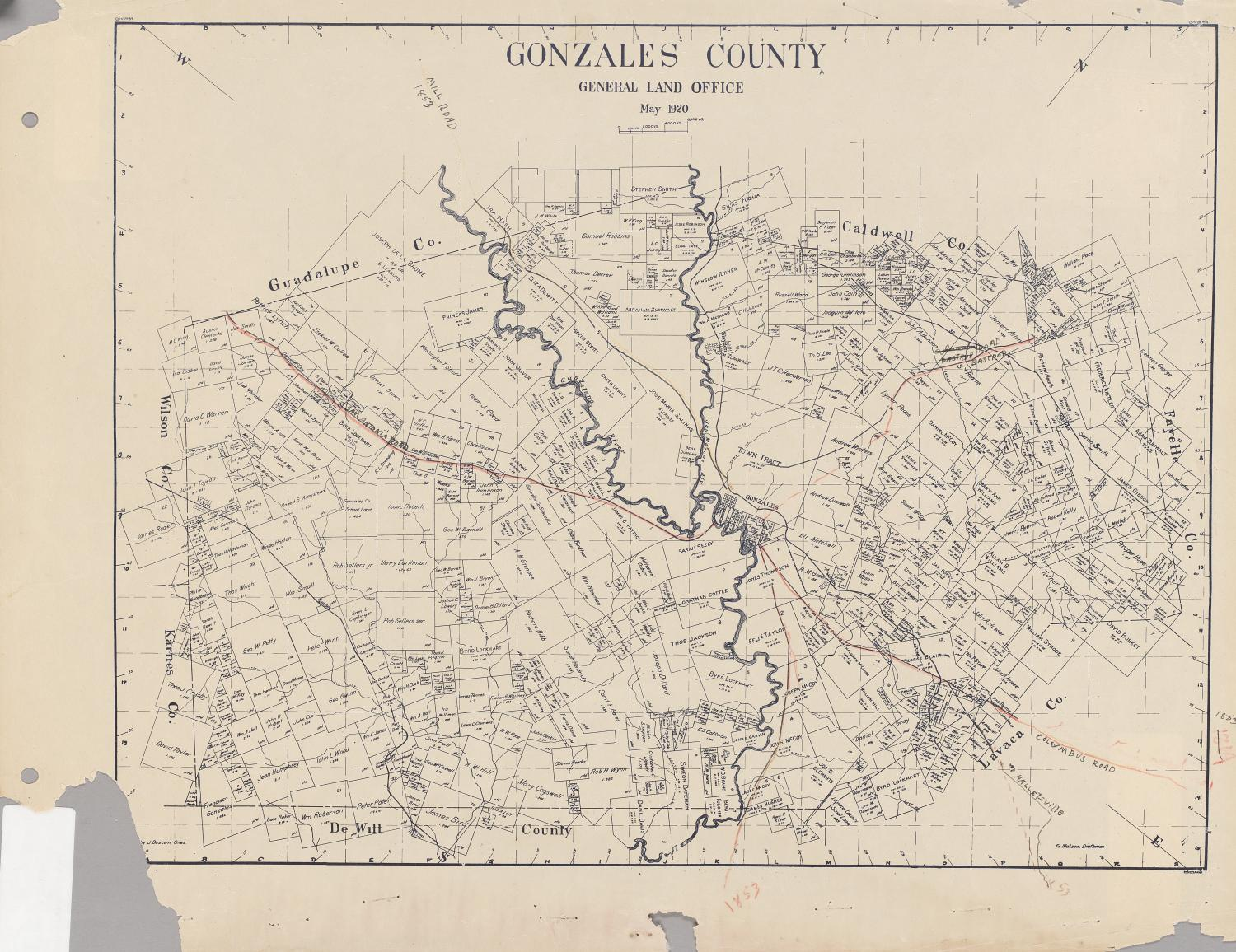 Gonzales County - The Portal to Texas History on rhome texas county map, brown county, caldwell county, marshall county texas map, colorado county, madisonville county texas map, collingsworth county texas map, dewitt county, brownwood county texas map, gonzales texas on a map, karnes county, colorado county texas map, gonzales texas aerial, lavaca county, zavala county, fayette county texas road map, harrison county texas map, fannin county, harris county, guadalupe county texas map, bryan county texas map, gonzales texas 2014, benton county texas map, adams county texas map, beaumont county texas map, bell county, wilson county, mclennan county, lavaca county texas map, kingsville county texas map, comal county, guadalupe county, jackson county, burnet county, san antonio county texas map, bexar county, pasadena county texas map,