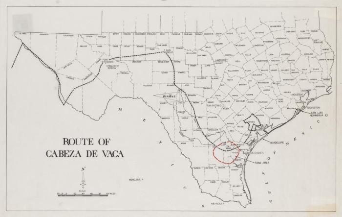 Route of Cabeza De Vaca - The Portal to Texas History