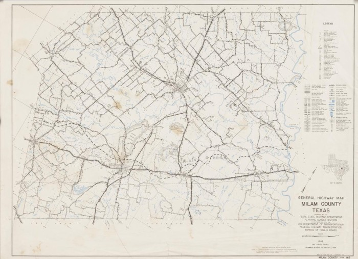 Milam County Texas Map General Highway Map Milam County, Texas   The Portal to Texas History