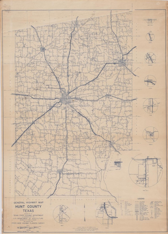 General Highway Map Hunt County, Texas - The Portal to Texas History