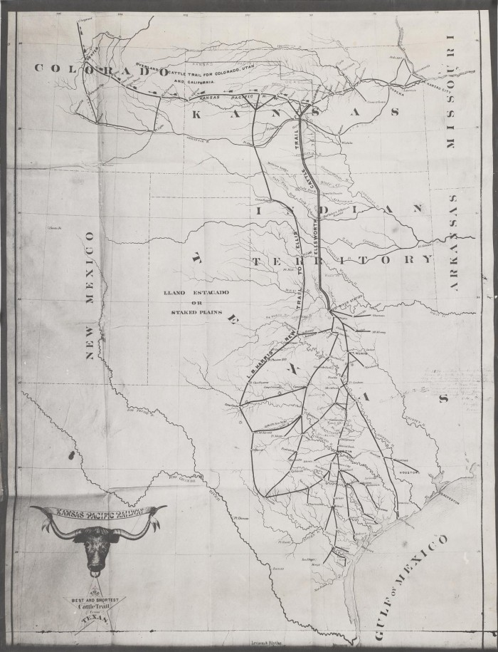 The Best and Shortest Cattle Trails From Texas - The Portal ... Cattle Trail Map on cattle trail history, cattle trail jobs, cattle drive maps, cattle trail clip art, cattle trail names,