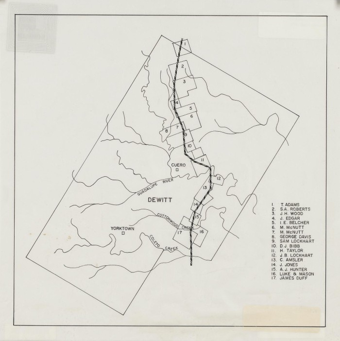 Map Of Yorktown Tx.Map Of Dewitt County The Portal To Texas History