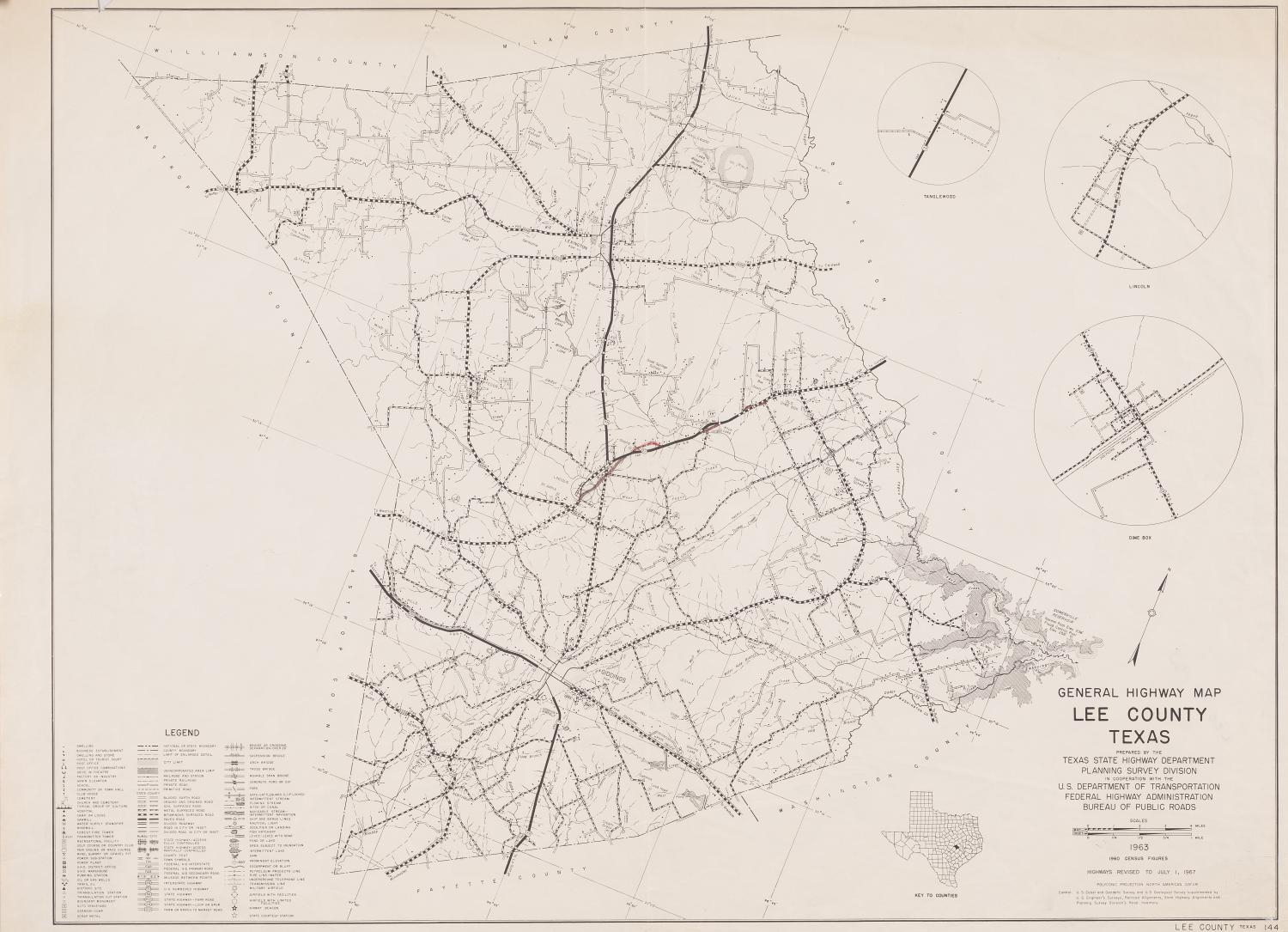 General Highway Map Lee County, Texas - The Portal to Texas History