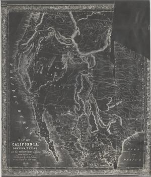 Primary view of Map of California, Oregon, Texas and the Territories adjoining with Routes and c.