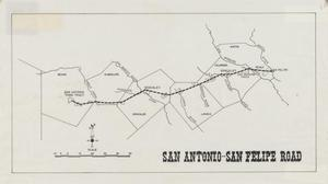 Primary view of object titled 'San Antonio - San Felipe Road'.