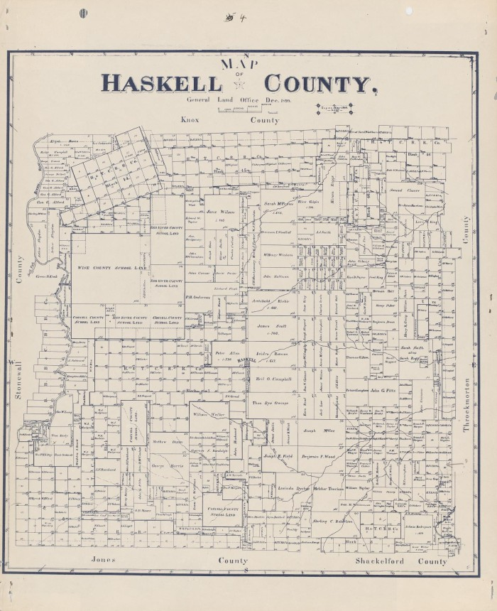 Haskell Texas Map Map of Haskell County   The Portal to Texas History