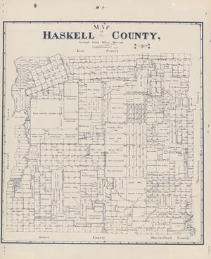 Primary view of object titled 'Map of Haskell County'.
