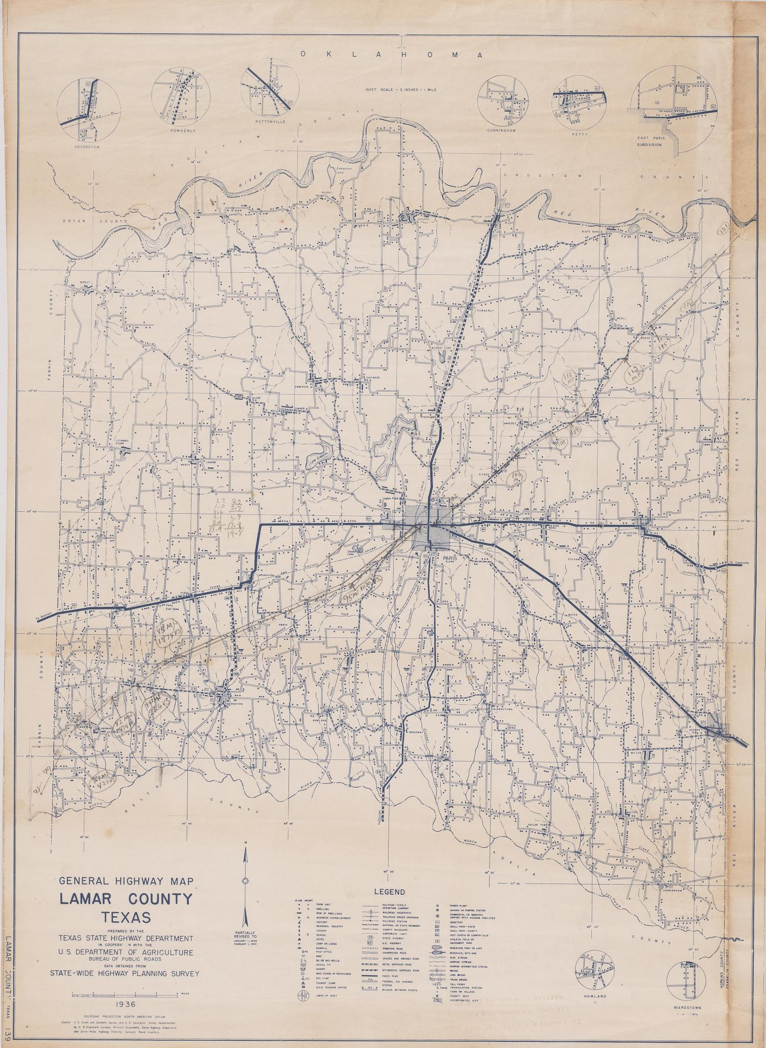 General Highway Map Lamar County Texas - Side 1 of 2 - The ...