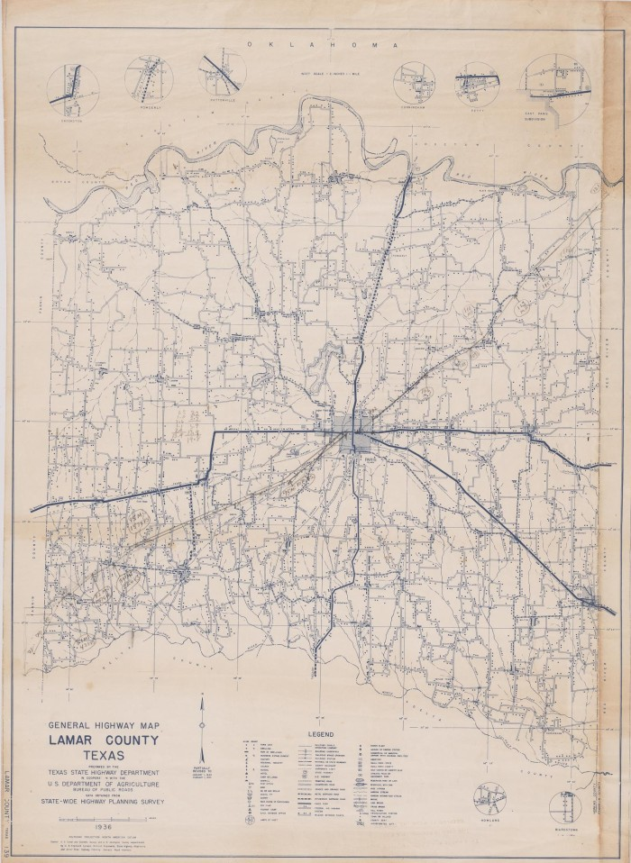 General Highway Map Lamar County Texas - The Portal to Texas History
