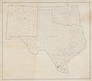 Map Of Texas New Mexico.Map Of Texas New Mexico And Oklahoma The Portal To Texas History