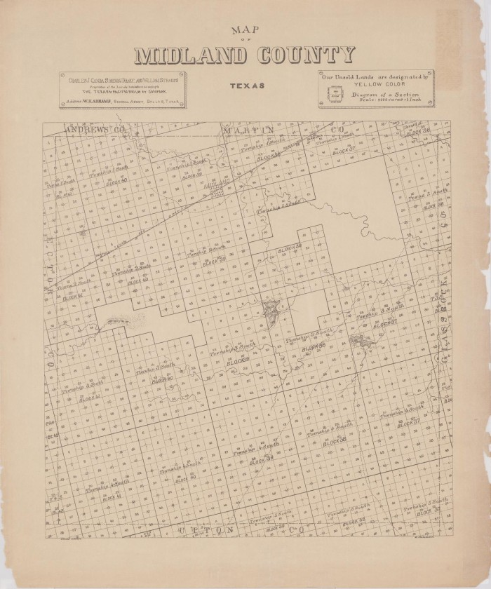 Map Of Texas Midland.Map Of Midland County Texas The Portal To Texas History