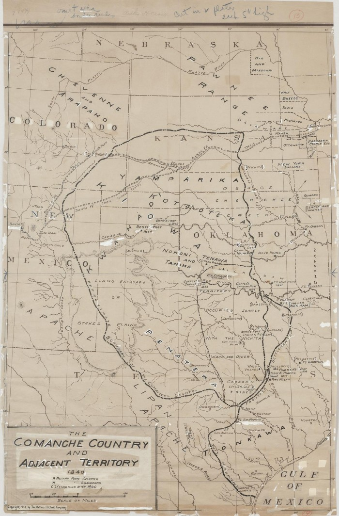 Map Of Texas 1840.The Comanche Country And Adjacent Territory 1840 The Portal To
