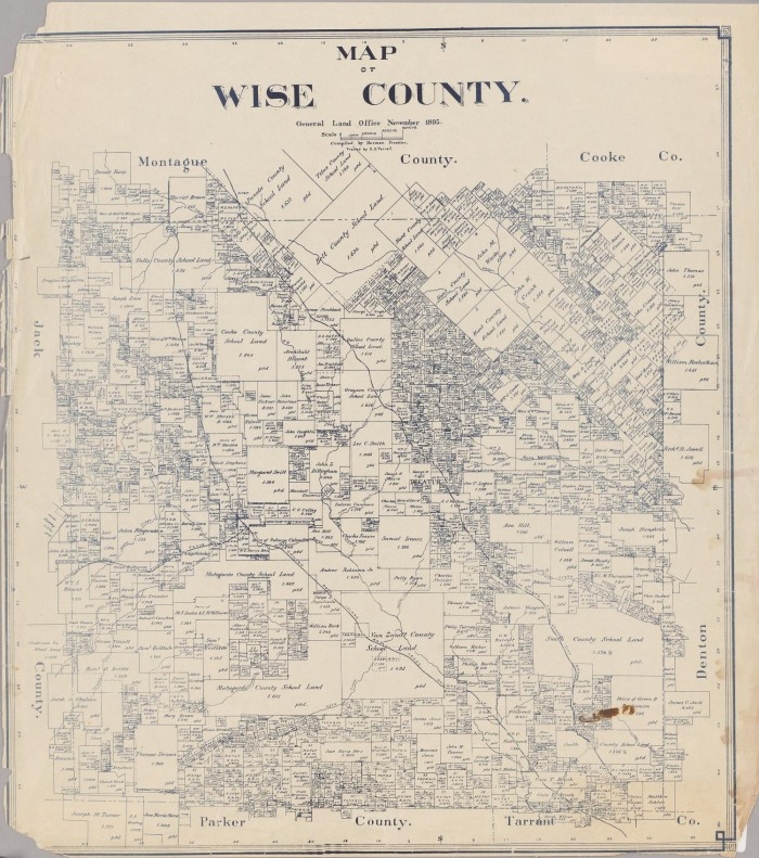 Map of Wise County The Portal to Texas History