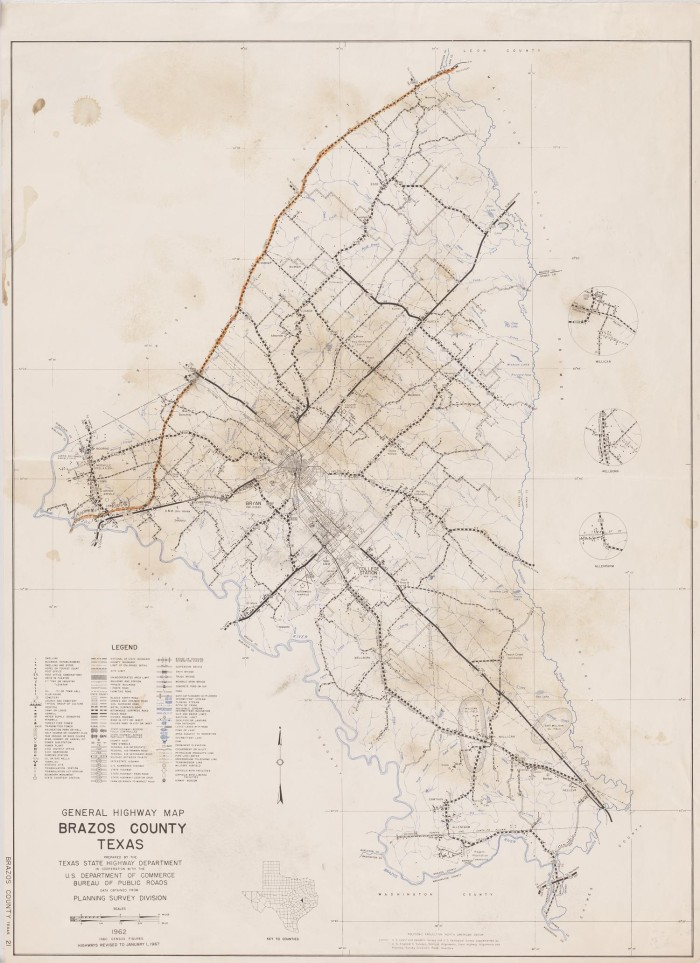 General Highway Map Brazos County, Texas - The Portal to Texas History