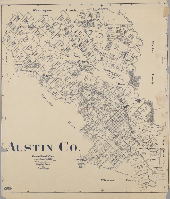 Austin Co. - The Portal to Texas History on victoria texas county map, austin texas river map, austin texas and surrounding areas map, arlington texas county map, wimberley texas county map, austin texas welcome, lake livingston texas county map, bryan texas county map, austin texas on map of texas, bastrop county texas map, austin texas location on map, round rock texas county map, denton texas county map, big spring texas county map, west texas county map, austin texas town map, athens texas county map, north texas county map, houston texas county map, beaumont texas county map,