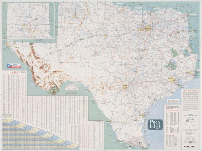 Map State Of Texas.Official Highway Travel Map State Of Texas The Portal To Texas
