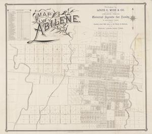 Primary view of object titled 'Map of Abilene'.