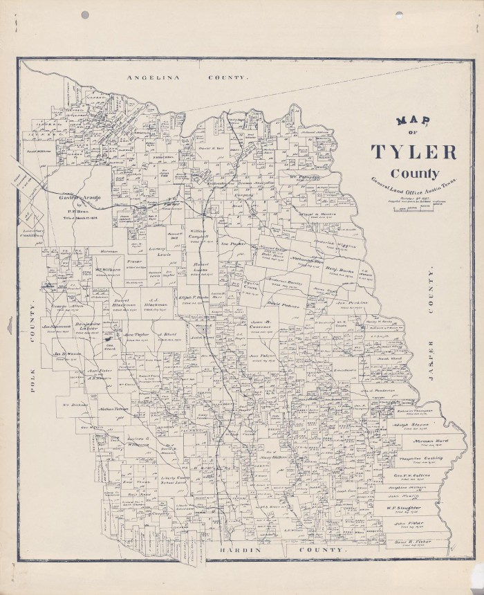 Map of Tyler County The Portal to Texas History