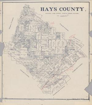 Primary view of object titled 'Hays County'.