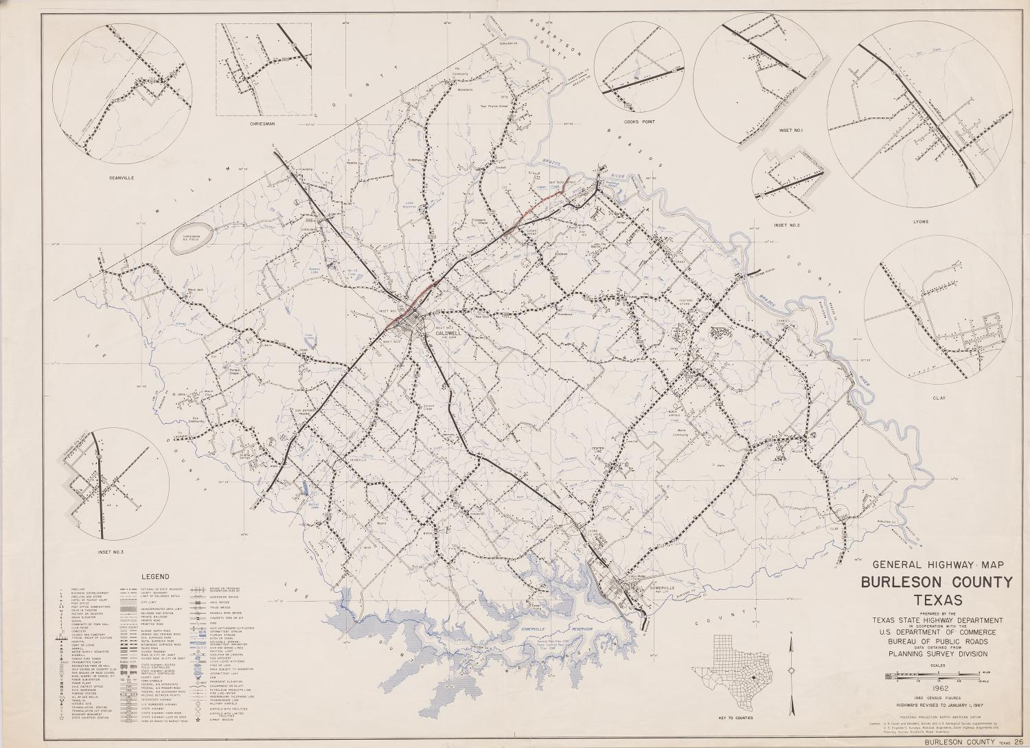 General Highway Map Burleson County Texas  The Portal to Texas