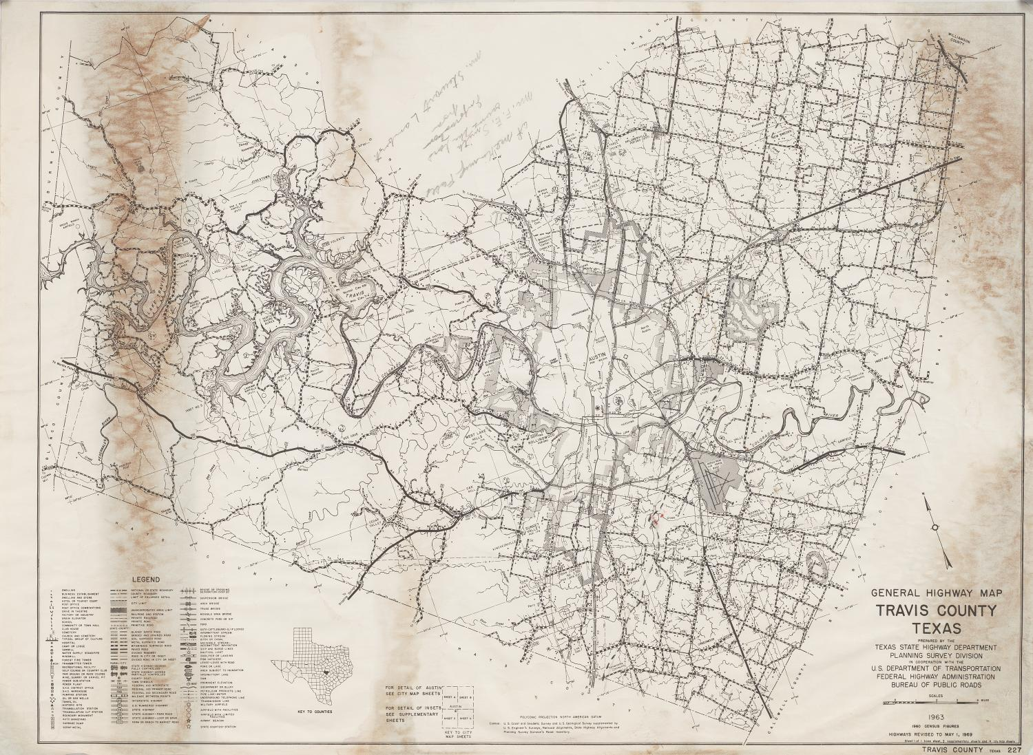 Detail Map Of Texas.General Highway Map Travis County Texas The Portal To Texas History