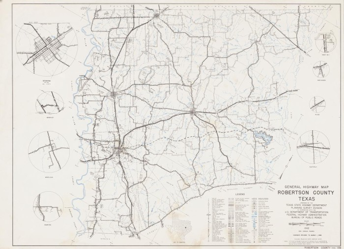 General Highway Map Robertson County Texas The Portal to Texas