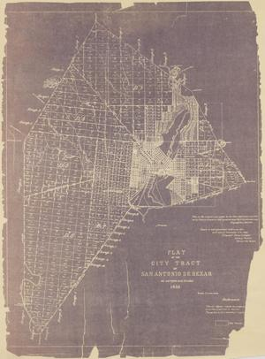 Primary view of Plat of the City Tract of San Antonio De Bexar