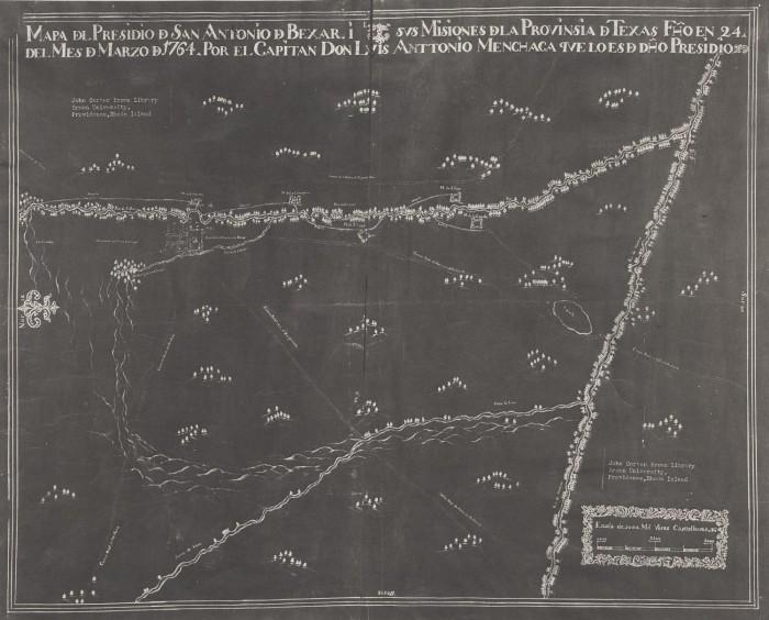 Mapa Del Presidio De San Antonio De Bexar Sus Misiones De La - Mapa de texas