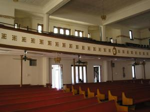 Photograph of Pews in St. James Methodist Church
