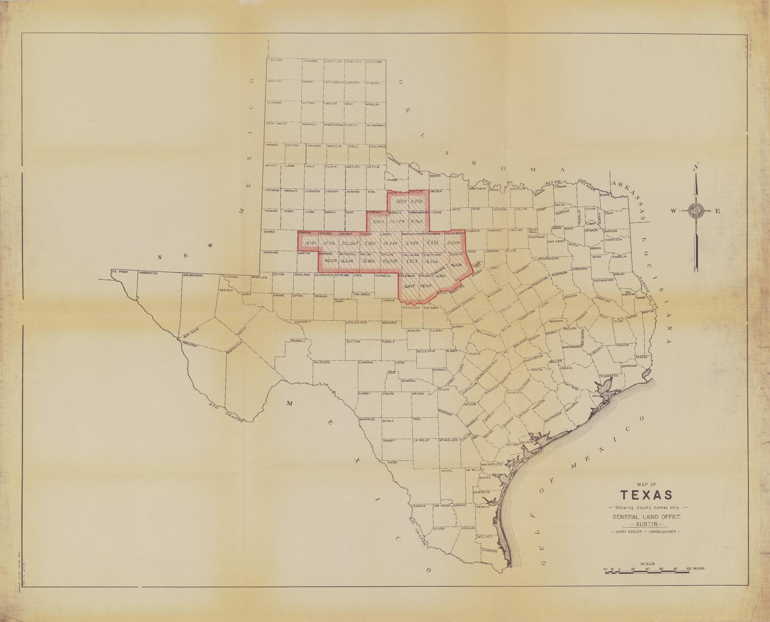 Map Of Texas Showing Austin.Map Of Texas Showing County Names Only The Portal To Texas History