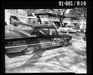 Primary view of object titled '[Tippit Shooting, Car Heading East on 10th 400 Block]'.