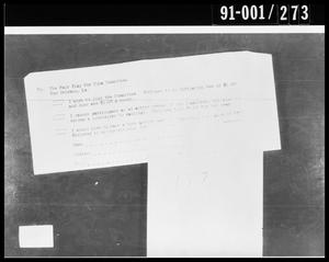 Primary view of object titled 'Fair Play for Cuba Committee Document Removed from Oswald's Home'.