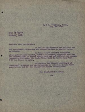 Primary view of object titled '[Letter from Concordia College Board of Control to William Hagen, August 26, 1932]'.