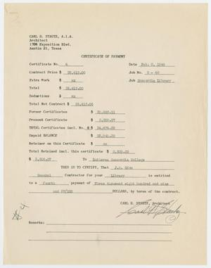 Primary view of object titled '[Certificate of Payment from Carl Stautz to Lutheran Concordia College for J. M. Odom]'.