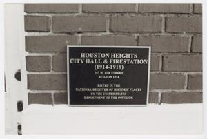 Primary view of [Houston Heights City Hall and Fire Station Photograph #6]