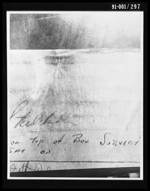 Primary view of object titled 'Texas School Book Depository Seat Print on Box'.