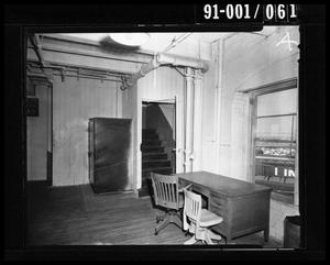 Primary view of object titled 'Interior of the Texas School Book Depository [Negative]'.