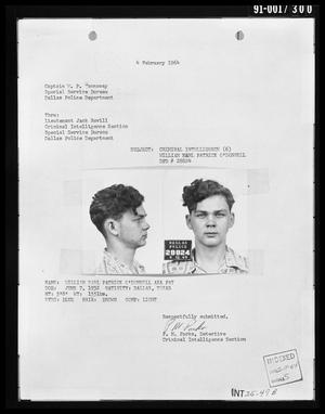 [Criminal Intelligence Document Concerning William Earl Patrick O'Donnell]