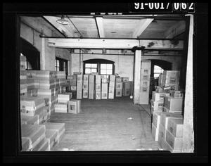 Boxes in the Texas School Book Depository [Negative]