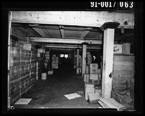 Primary view of object titled 'Boxes in the Texas School Book Depository [Negative #2]'.