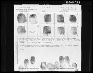 Fingerprint Card: Jack Leon Ruby
