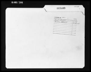 Primary view of object titled 'Folder for Case No. 54018: Lee Harvey Oswald'.