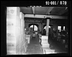 Primary view of object titled 'Boxes in the Texas School Book Depository [Negative #1]'.