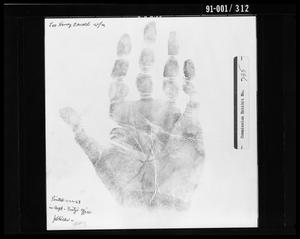 Primary view of object titled 'Fingerprint Card: Lee Harvey Oswald, Right Hand'.